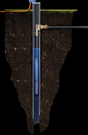 Схема обустройства скважины с кессоном
