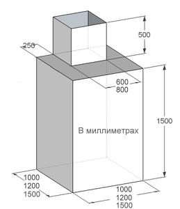Кессон металлический, квадратный
